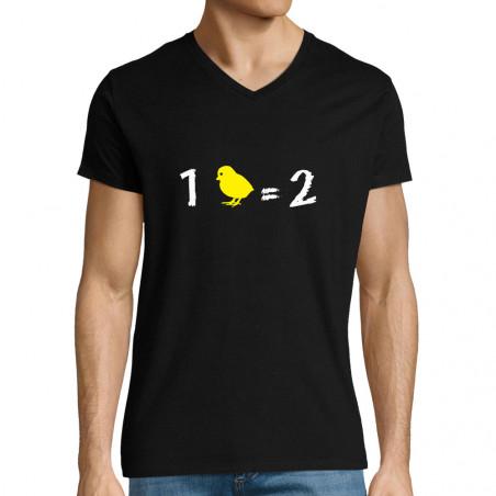 """T-shirt homme col V """"1..."""