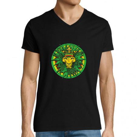 "T-shirt homme col V ""Rasta..."