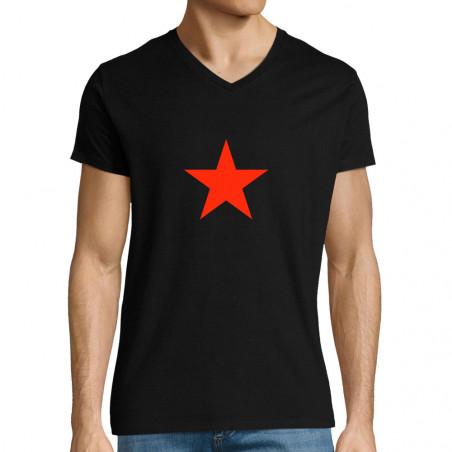 """T-shirt homme col V """"Etoile..."""