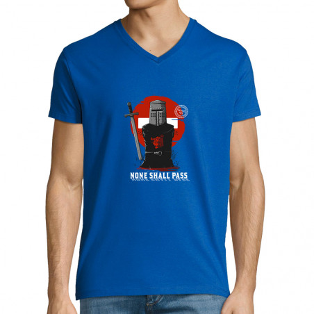 """T-shirt homme col V """"None..."""