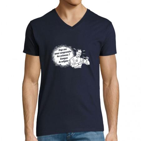 """T-shirt homme col V """"Trop..."""