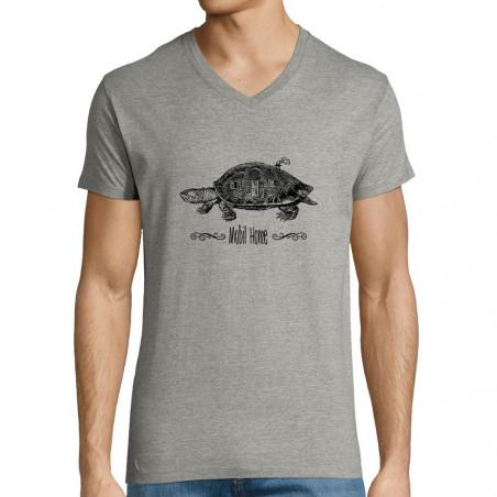 "T-shirt homme col V ""Mobil..."