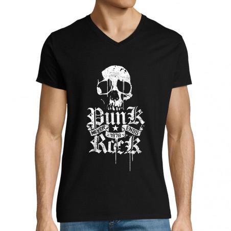 """T-shirt homme col V """"Punk..."""