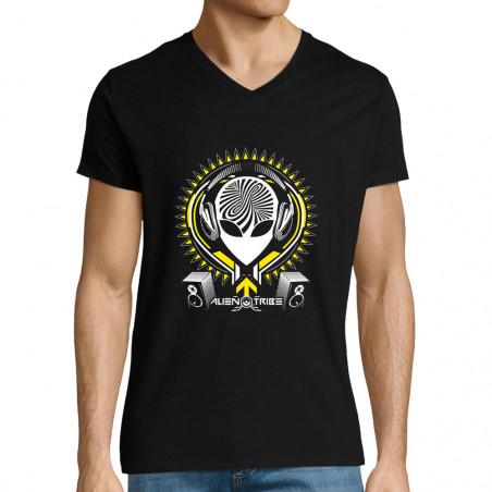 """T-shirt homme col V """"Alien..."""