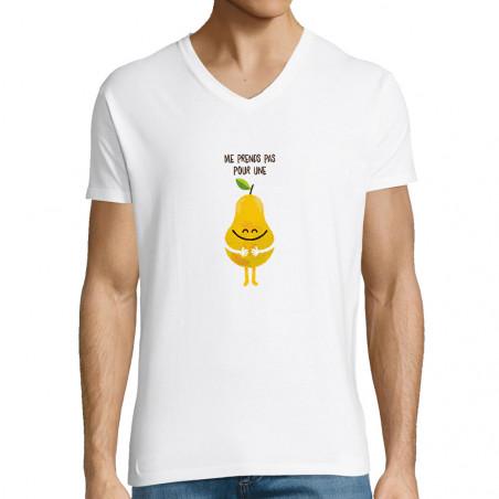 """T-shirt homme col V """"Me..."""