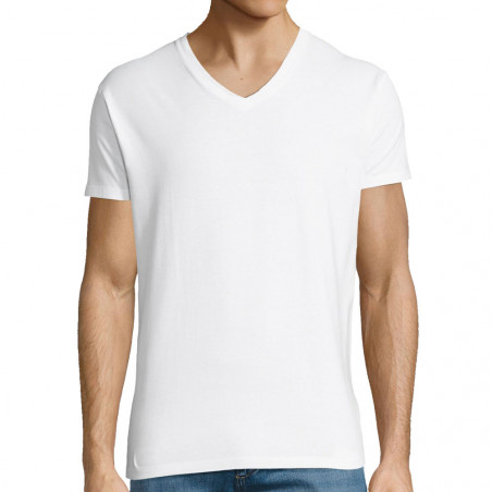 """T-shirt homme col V """"Vierge"""""""