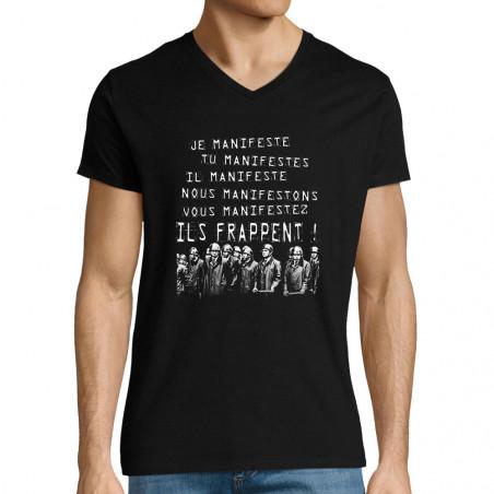 """T-shirt homme col V """"Je..."""