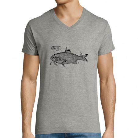 """T-shirt homme col V """"M'en..."""