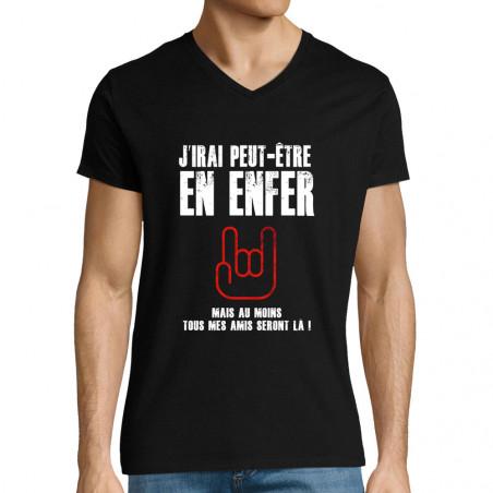 "T-shirt homme col V ""J'irai..."