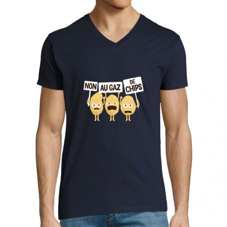 """T-shirt homme col V """"Non au..."""