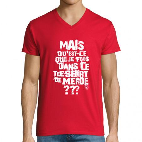 """T-shirt homme col V """"Mais..."""