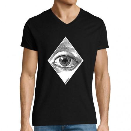 "T-shirt homme col V ""Eye"""