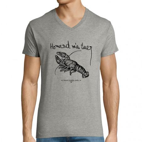 """T-shirt homme col V """"Homard..."""
