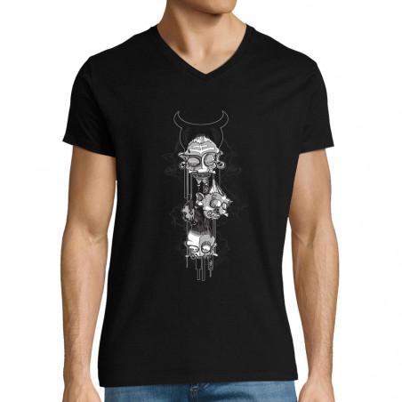 """T-shirt homme col V """"Totem"""""""