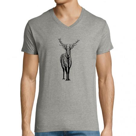 """T-shirt homme col V """"Deer..."""