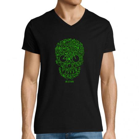 "T-shirt homme col V ""Bike..."