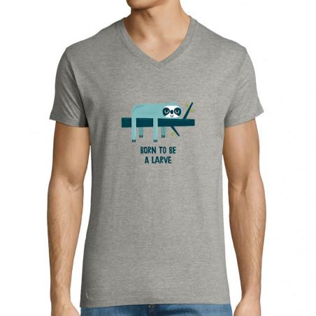 "T-shirt homme col V ""Born..."