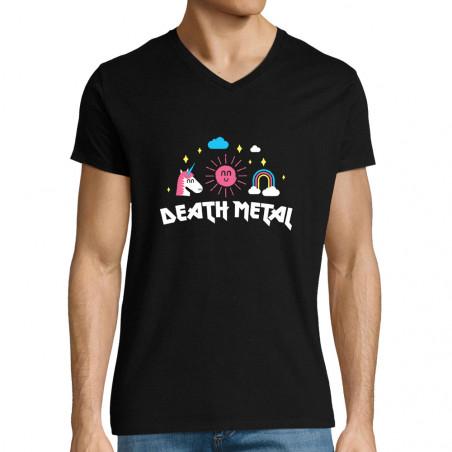"""T-shirt homme col V """"Death..."""