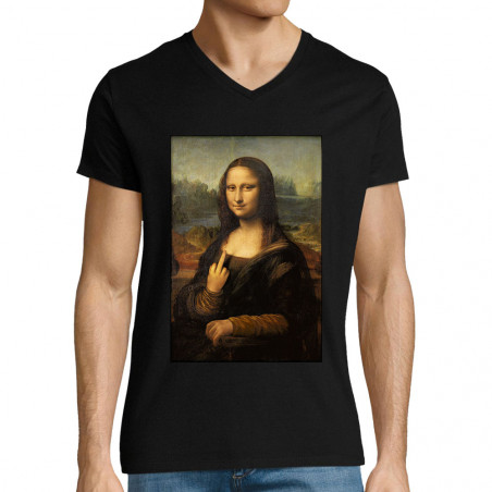"T-shirt homme col V ""Mona..."