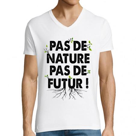 """T-shirt homme col V """"Pas de..."""