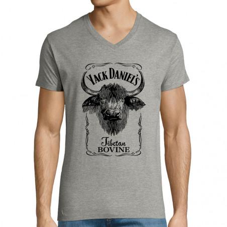 "T-shirt homme col V ""Yack..."