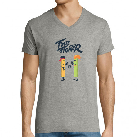 "T-shirt homme col V ""Frite..."
