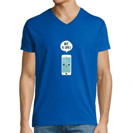 "T-shirt homme col V ""Get a..."