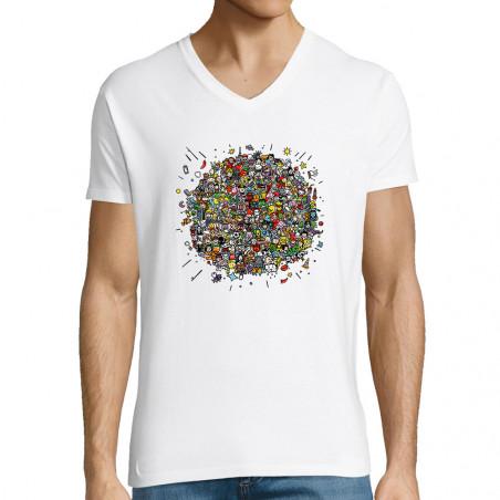 "T-shirt homme col V ""Planet..."