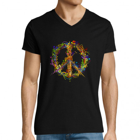 "T-shirt homme col V ""Peace..."