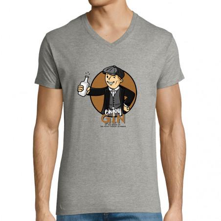 """T-shirt homme col V """"Enjoy..."""