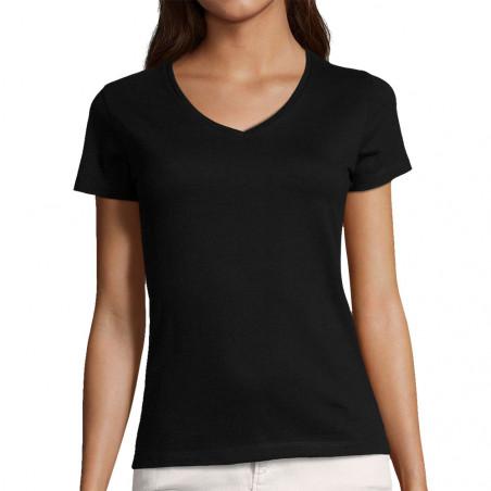 """T-shirt femme col V """"Vierge"""""""