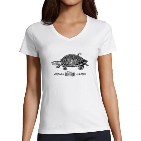 "T-shirt femme col V ""Mobil..."