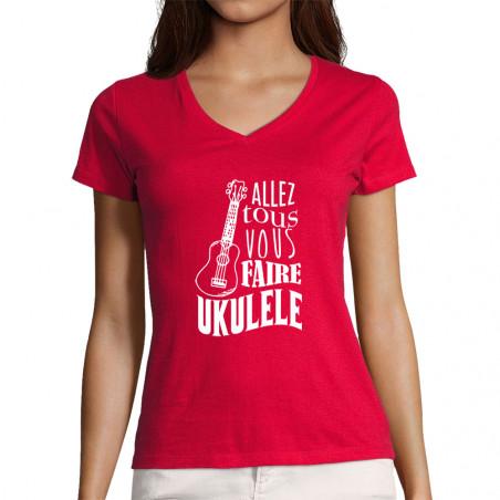 """T-shirt femme col V """"Allez..."""