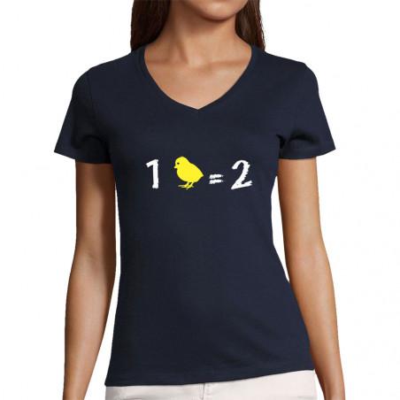 "T-shirt femme col V ""1..."