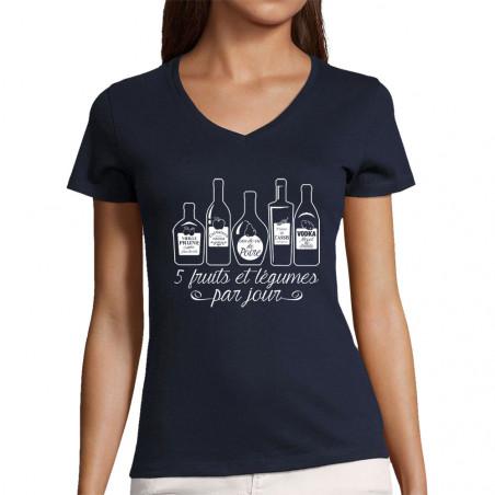"T-shirt femme col V ""5..."
