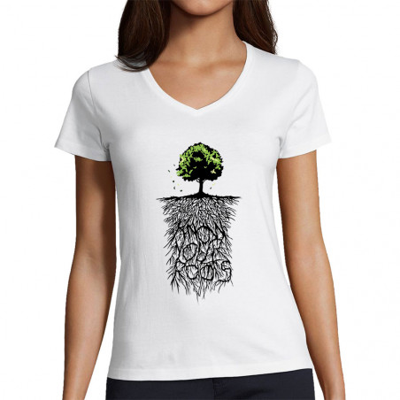 """T-shirt femme col V """"Know..."""
