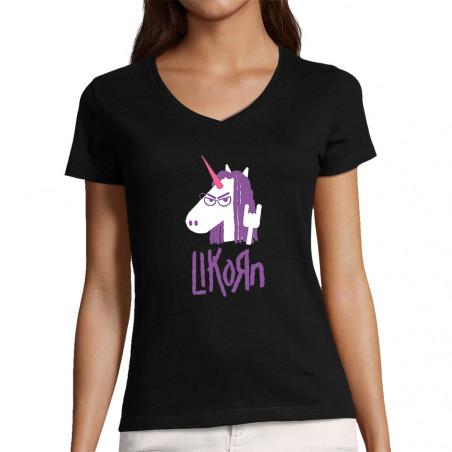 """T-shirt femme col V """"Likorn"""""""