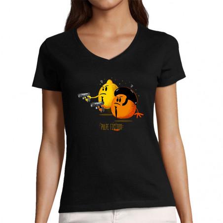"T-shirt femme col V ""Pulpe..."
