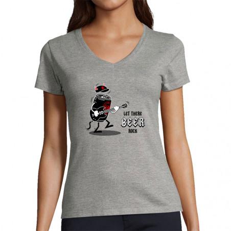 """T-shirt femme col V """"Let..."""