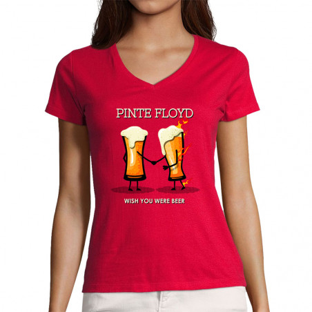 "T-shirt femme col V ""Pinte..."