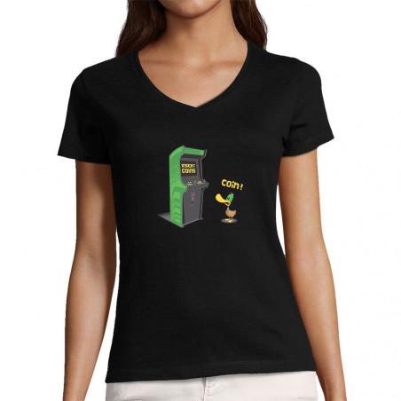 """T-shirt femme col V """"Insert..."""