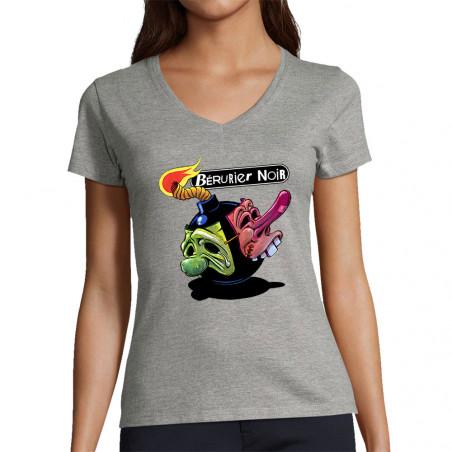 """T-shirt femme col V """"BxN -..."""