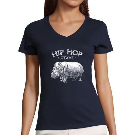 """T-shirt femme col V """"Hip..."""