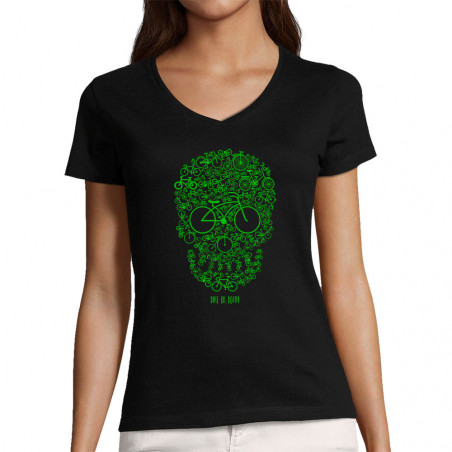 "T-shirt femme col V ""Bike..."