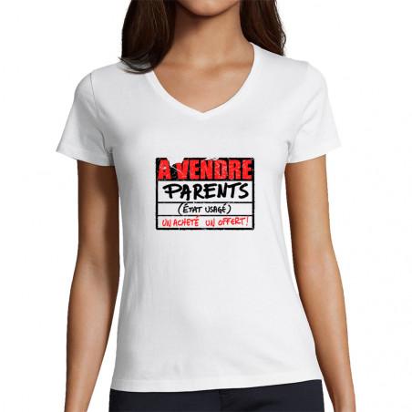 """T-shirt femme col V """"A..."""