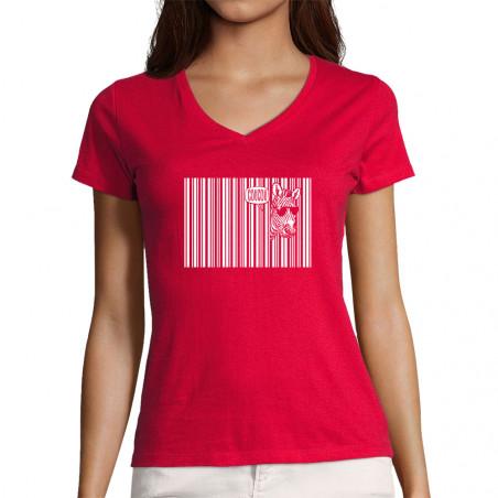 "T-shirt femme col V ""Coucou"""
