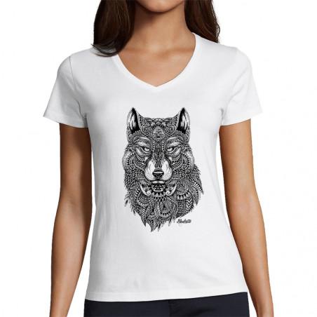 """T-shirt femme col V """"Bad..."""