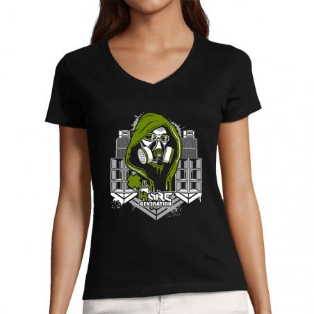"T-shirt femme col V ""Kore..."