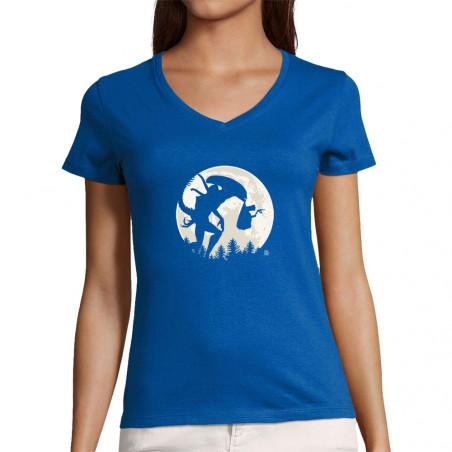 "T-shirt femme col V ""ET's..."