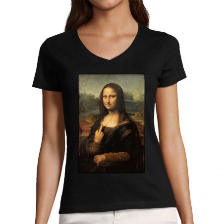 "T-shirt femme col V ""Mona..."